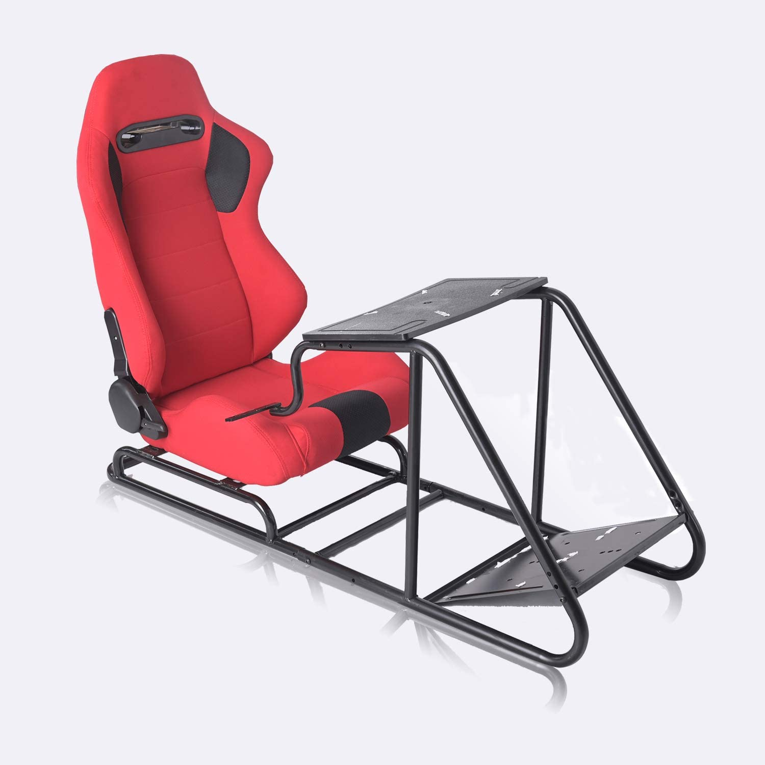 EiioX Racing Simulator with Fabric Seat Computer Gaming Chair, Red