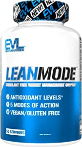 Evlution Nutrition Lean Mode - Complete Stimulant-Free Weight Loss Support and Diet System with Green Coffee, Carnitine, CLA, Green Tea, Garcinia Cambogia for Fat Burning and Metabolism (50 Servings)