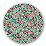 Uneekee Butterflies With Shadows Lazy Susan: Large, Dark Wooden Turntable Kitchen Storage