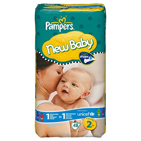 PAMPERS Pañales New Baby Talla 2 mini 3 – 6 KG Paquete ahorro, 48 unidades