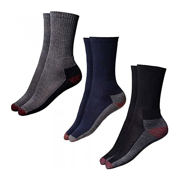 Islander Fashions Adult 5 Pairs Pack Cushion Crew Socks Colores surtidos Calcetines Unisex Work Wear Un tama o: Amazon.es: Ropa y accesorios