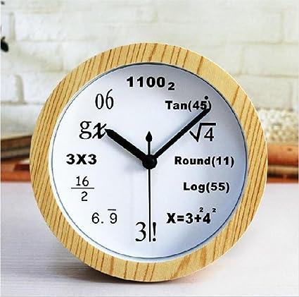 Fórmula matemática Estilo Alarma reloj creativo Ciencia y Tecnología digital Mesa titular Reloj de mesa de