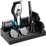Hair Clipper, Men's Hair Trimmer Professional Cordless Hair Shaver Electric Haircut Kit Facial Hair Trimmer for Hair, Beard, Eyebrow, Nose Hair
