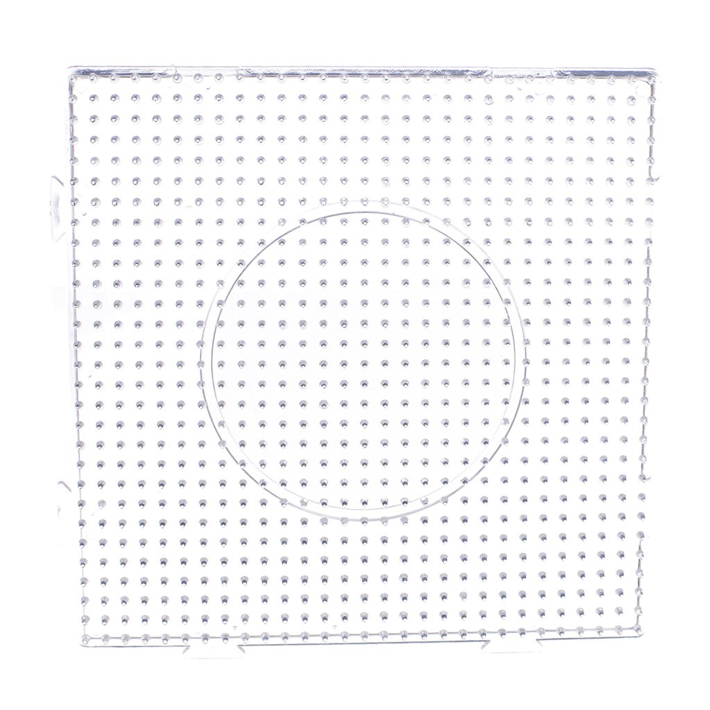 Large Square Clear Perler Fuse Beads Pegboard Children's DIY Craft Generic