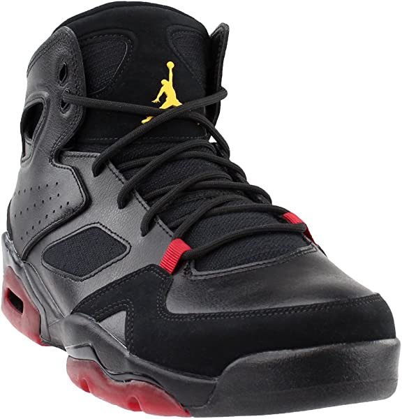 62474a92b6aa81 Jordan 555475-067  Mens Flight Club 91 Black Dandelion Varsity Red Sneakers  (10