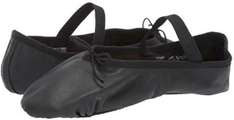 Leo Baby-Girls Ballet Russe Dance Shoe 7 C US Toddler black