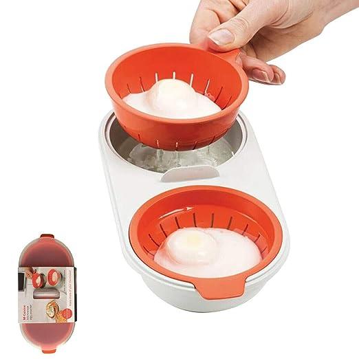PDHJHT Microondas Taza Doble Huevo Cocina vaporera Huevo Cazador ...