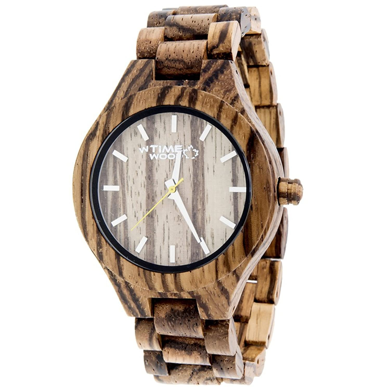 Timewood HolzUhr ZEBRUS