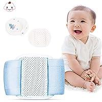 Vivtone Umbilical Hernia Belt, Medical Grade Infant Abdominal Binder, Adjustable Baby Navel Truss Support Abdominal Belt with 3 Compression Pads