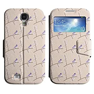 AADes Scratchproof PU Leather Flip Stand Case Samsung Galaxy S4 IV i9500 ( Small Bird )