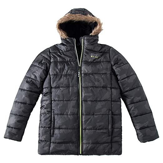 70b9533c0 SNOW DREAMS Little & Big Boys Camo Quilted Jacket Embroidered Spliced  Hooded Puffer Coat