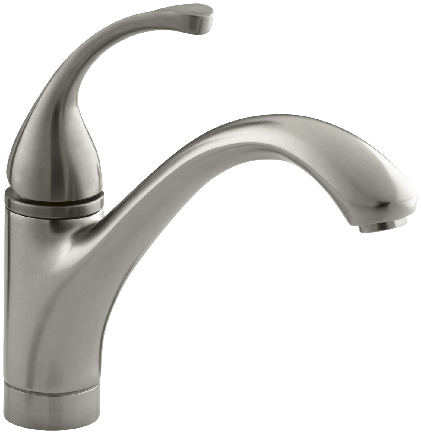 Good KOHLER K 10415 VS Forte Single Control Kitchen Sink Faucet With Lever  Handle, Vibrant Stainless   Touch On Kitchen Sink Faucets   Amazon.com