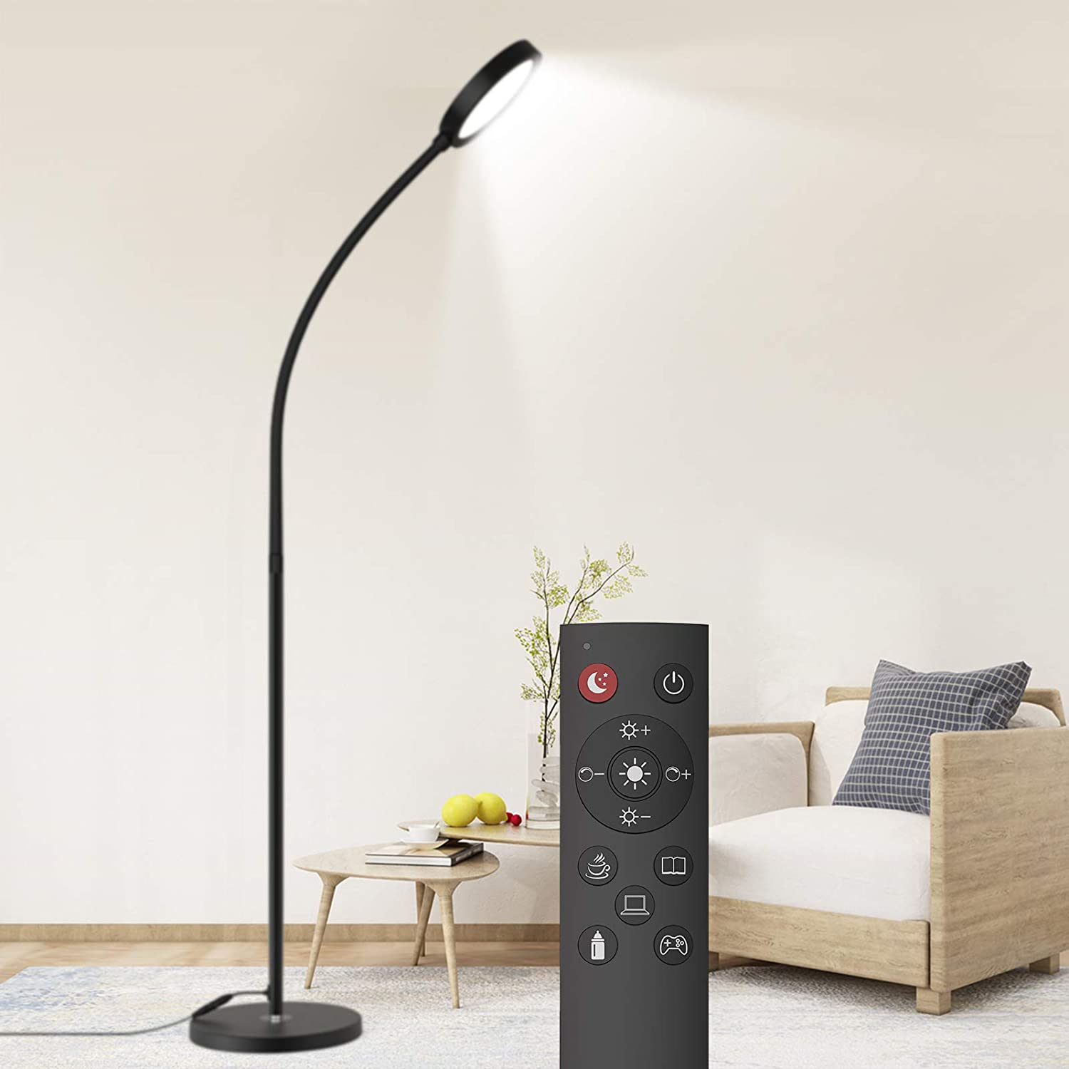 Floor Lamp, Remote & Touch Control 11K-11K LED Floor Lamp for Bedroom  and 11 Color Temperatures Standing Lamp with Stepless Dimmer, dodocool