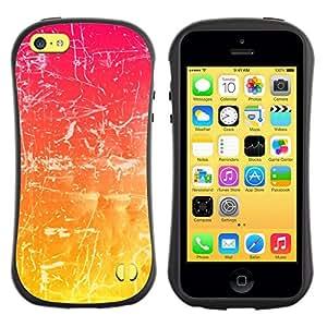 LASTONE PHONE CASE / Suave Silicona Caso Carcasa de Caucho Funda para Apple Iphone 5C / Scratch Pink White Random