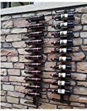 Vintage View Wall Mount Wine Rack for Magnum and Champagne Bottles (Holds 8 Bottles) (Bronze)