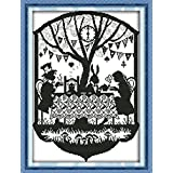 YEESAM ART New Cross Stitch Kits Advanced Patterns for Beginners Kids Adults - Drink Coffee 11 CT Stamped 42×56 cm - DIY Needlework Wedding Christmas Gifts