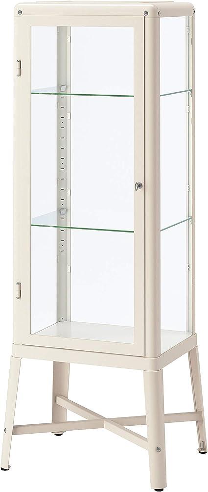 IKEA Fabrikör Gabinete de puerta de vidrio, Beige: Amazon.es ...