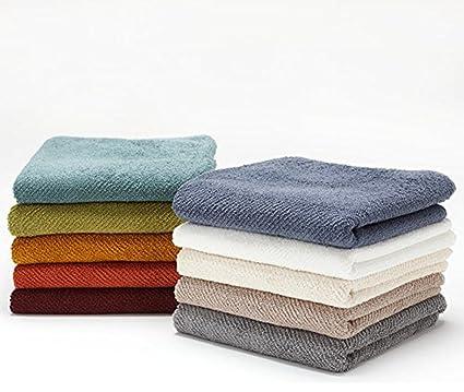Peso Coyuchi algodón orgánico Air juego de toallas de mano de 2, algodón, Green