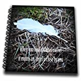 3dRose WhiteOaks Photography and Artwork - Inspirational - White Angel Feather is a symbolic symbol of angels being close - Mini Notepad 4 x 4 inch (db_265329_3)
