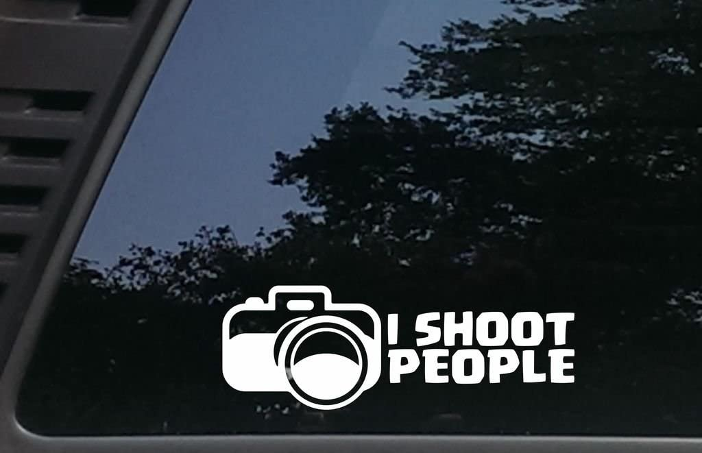 Photographer Windows I Shoot People virtually Any Hard Smooth Surface Boats Tool Boxes 8 1//2 inches by 3 inches die Cut Vinyl Decal for Vehicles laptops