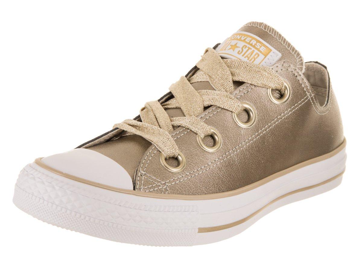 Converse Women's Chuck Taylor All Star Big Eyelets Ox Metallic Gold/Gold/White Casual Shoe 8 Women US
