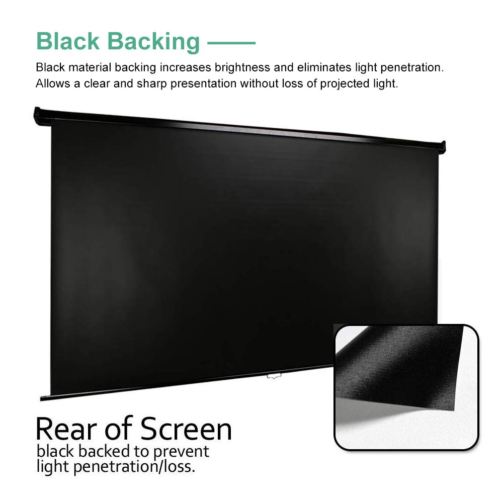 Indoor and Outdoor Movies Screen 120 inch Electric 4:3 Projector Screen W//Remote Control 120 Motorized Projector Screen