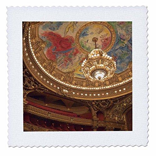 3dRose qs_81385_1 France, Paris, Opera Garnier Interior-EU09 BJA0173-Jaynes Gallery-Quilt Square, 10 by - Interiors Gallery