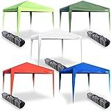 Gazebo Tenda pieghevole 3x3 m a fisarmonica per mercato o feste