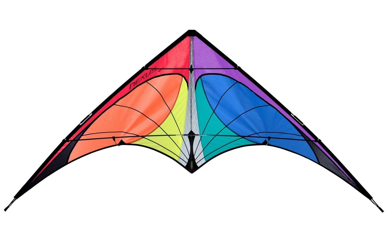 Prism Nexus Dual Line Delta Framed Stunt Kite with 40' Tail Bundle (3 Items) + Prism 40ft Ripstop Streamer Tail Yellow + WindBone Kiteboarding Lifestyle Stickers + Key Fob (Spectrum) by Prism, WindBone (Image #3)