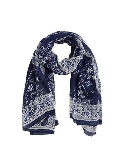 2a2c3c3e1 Pepe Jeans Foulard Denise Bleu Femme U Bleu: Amazon.fr: Vêtements et ...