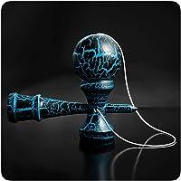 PRECORN Kendama Juego de habilidad con bola negra/azul