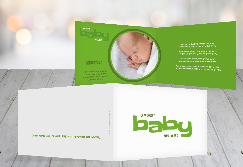 Kartenparadies Geburtskarte Babykarte Baby, hochwertige Babykarte zur Geburt inklusive Umschläge   20 Karten - (Format  148x105 mm) Farbe  Grasgruen B01N6WVQS1 | Ermäßigung  | Toy Story  | New Products