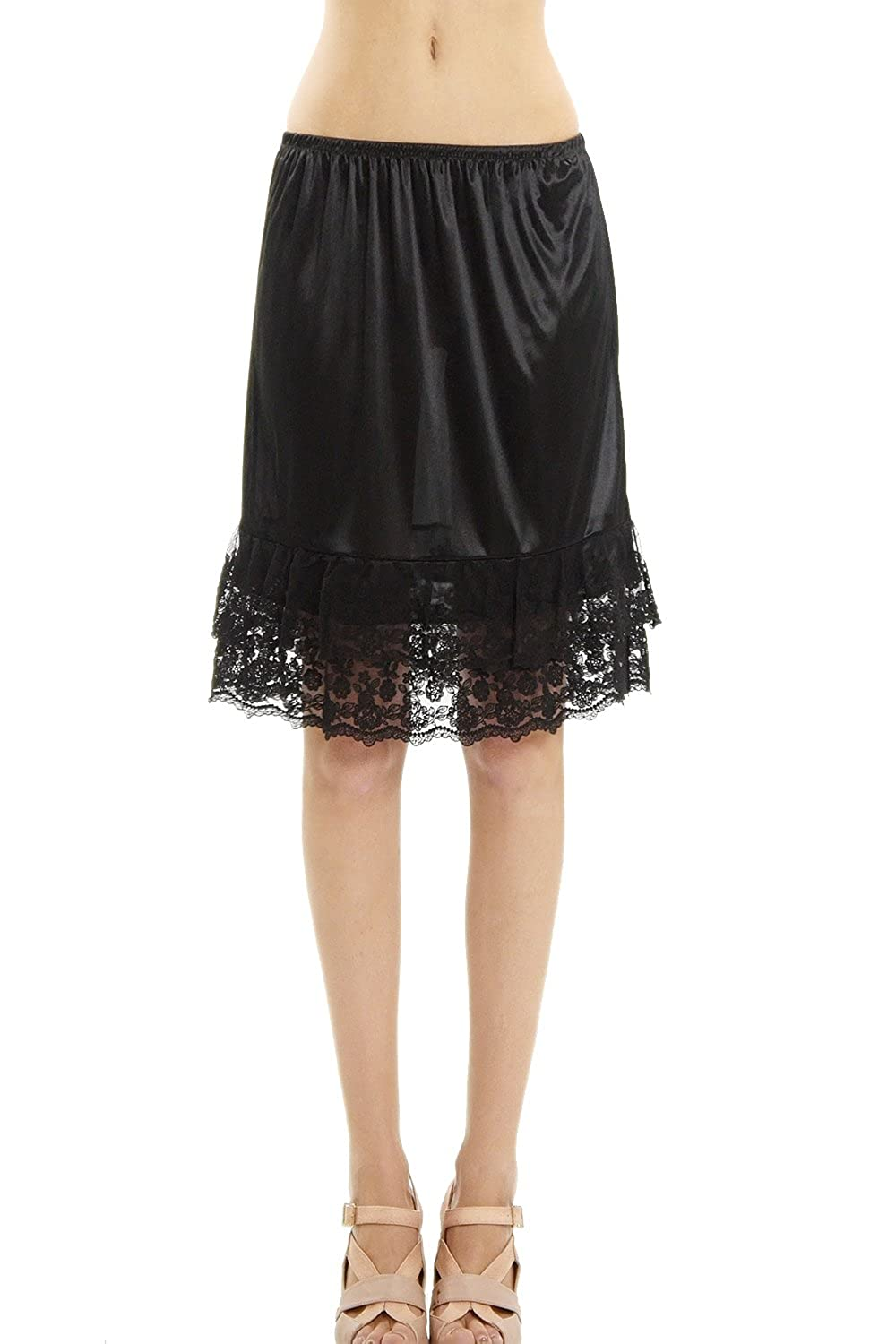 f84aed467d3f Double Lace Half Slip Satin Skirt Extender- 21