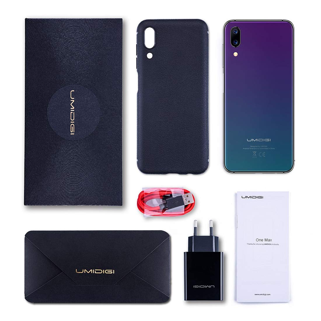 UMIDIGI One Max 4GB+128GB Face ID & Side Fingerprint Identification 6 3  inch Android 8 1 MTK Helio P23 Octa Core up to 2 0GHz GSM & WCDMA & FDD-LTE