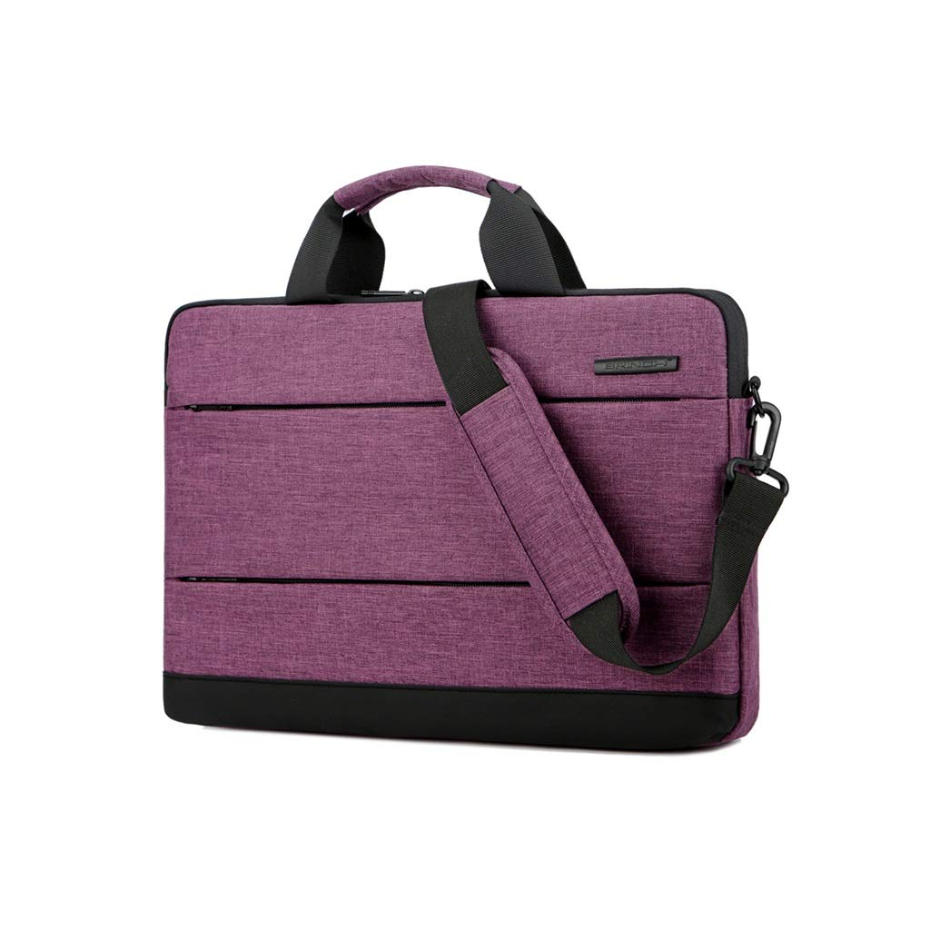 QSJY File Cabinets Laptop Case 13 Inch/14 Inch Handbag Computer Package Shoulder Bag (Color : Purple, Size : 400(W)×290(H)×40(T) MM) by QSJY File Cabinets