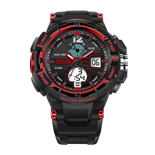 Reloj de Pulsera Digital YouN Digital Sports Switch LED (Black Red Girl Item)