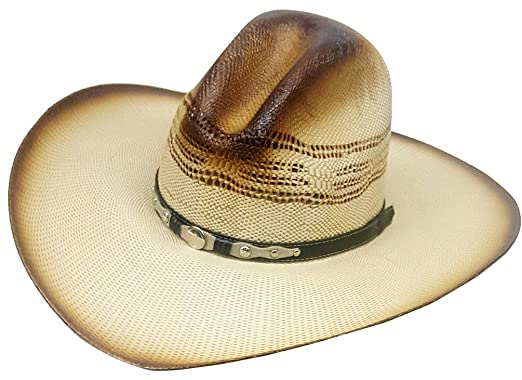 d194a8881a2 Modestone Bangora Rodeo Wide Brim Slope Crown Straw Cowboy Hat Beige ...