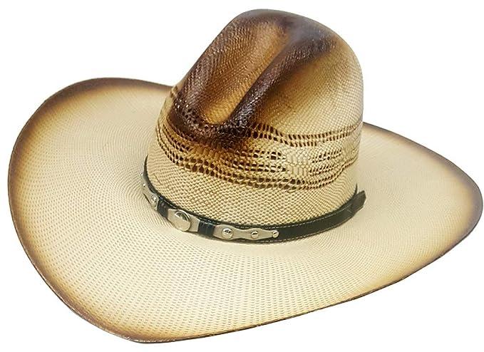 Modestone Bangora Rodeo Wide Brim Slope Crown Straw Sombrero Vaquero Beige   Amazon.es  Ropa y accesorios eda5b1cbcac