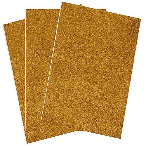 SIMPLY ELEGANT Eva Foam Glitter Large Sheet - Gold - 16