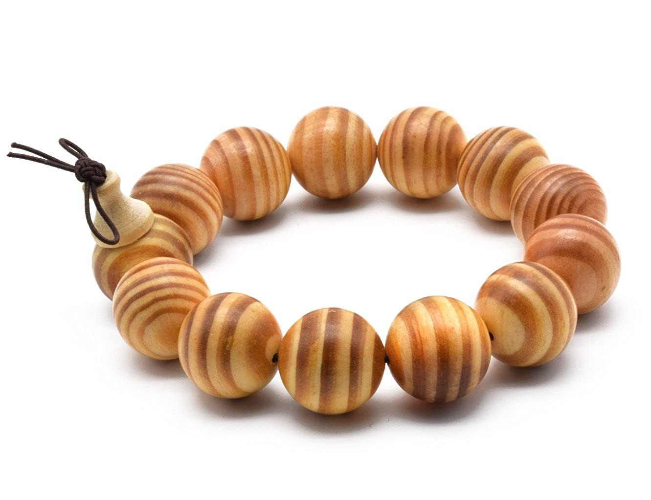 Zen Dear Unisex Natural Dammar Pine Wood Beads Tibetan Buddhist Mala Meditation Necklace Bracelet Beads ZD-DPW-00-00