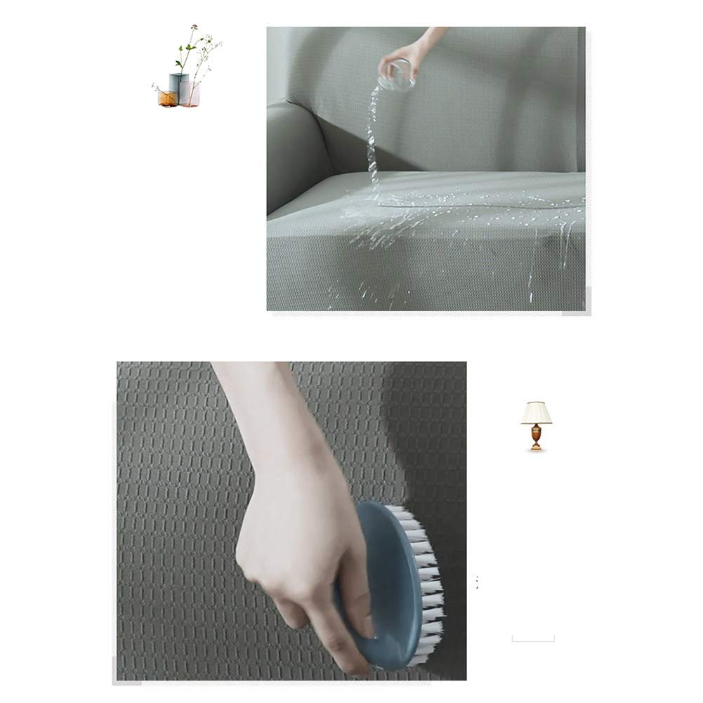 DW&HX Stretch Wasserdicht Slipcover,Schmutzabweisend Sofabezug,Elasthan Slip beständig Sofaüberwurf -Grau -Grau -Grau 3-sitzer 85692d