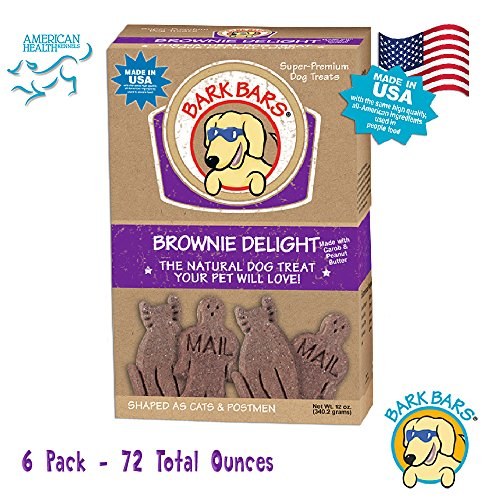 6 Pack of 12 Ounce Boxes of Bark Brownie Delight Delight Pet Treats 72 Total Ounces