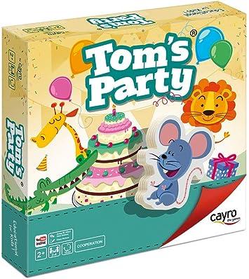 Cayro - Tom´s Party - Juego de Mesa Infantil - Juego de cooperación Desarrollo de Habilidades visuales y razonamiento- Juego de Mesa (832): Amazon.es: Juguetes y juegos