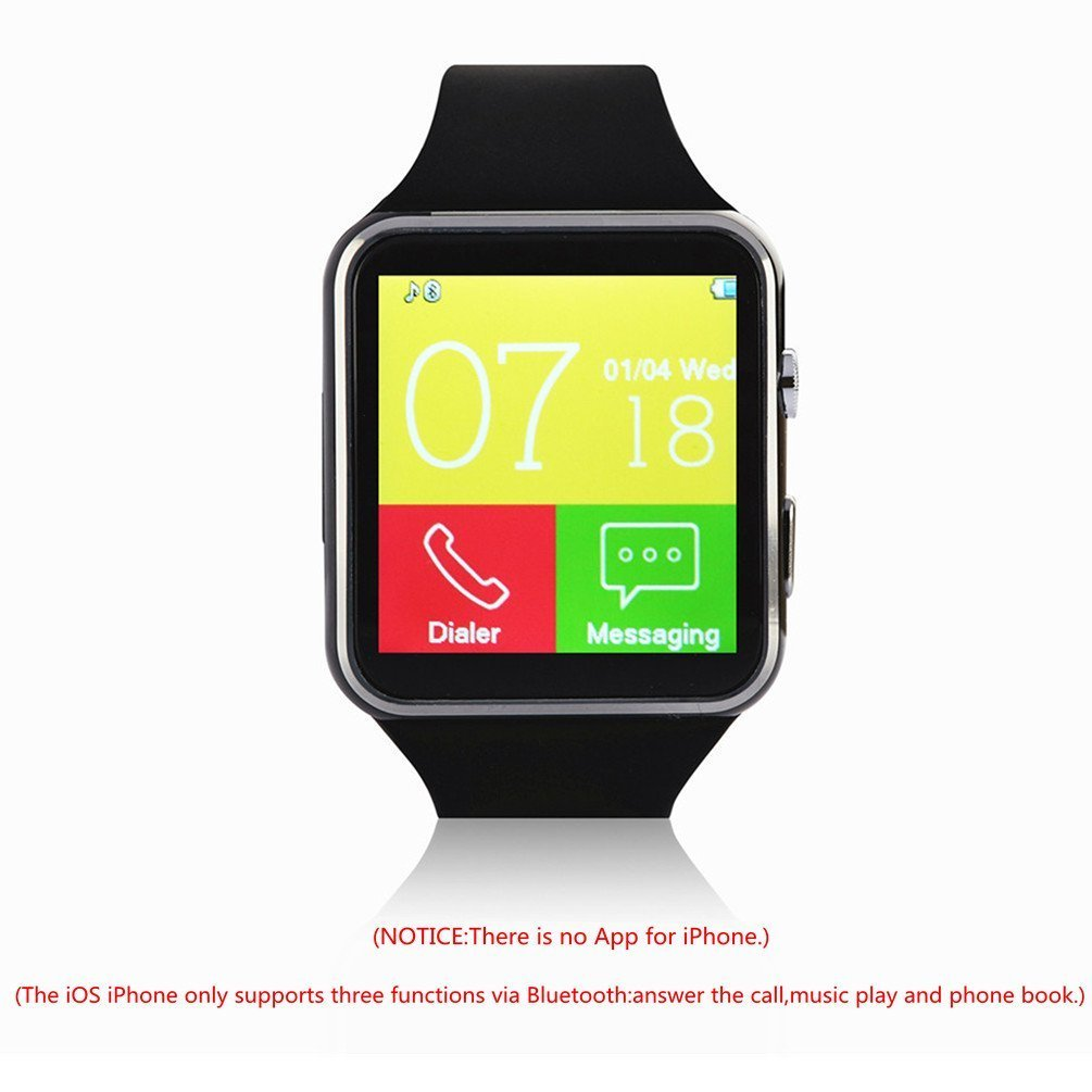 viwel Reloj Inteligente Bluetooth Smart Watch Teléfono Inteligente Pulsera con Cámara Pantalla Táctil Soporte SIM/TF para Android Samsung HTC LG Huawei Sony ...