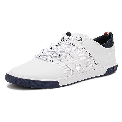 Tommy Hilfiger Hombres Blanco Milton 1A Zapatillas-UK 6.5: Amazon.es: Zapatos y complementos