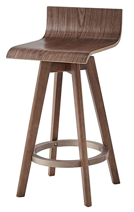 Pleasant Amazon Com Ellery Trendy Mid Century Modern Wooden Curved Ncnpc Chair Design For Home Ncnpcorg