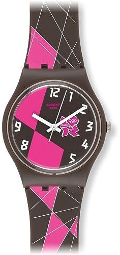 Swatch GZ266 - Reloj analógico de Cuarzo para niña con Correa de plástico, Color: Amazon.es: Relojes