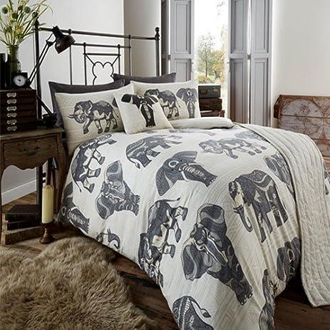 .com: queen size elephant tribal print bedding set duvet cover ...