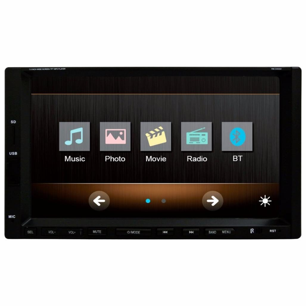 WuyiMC 7 inch Car Stereo FM only MP3 MP4 Player with USB SD(Ship from US) (Black)
