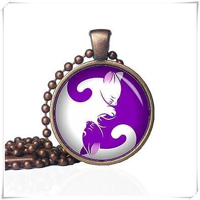 JUN Yin Yang Gatos - Yin Yang collar - Yin-Yang joyas ...